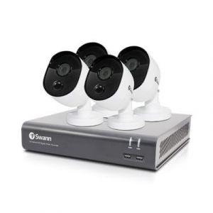 Kit vidéosurveillance intérieur et extérieur - 4caméras Swann 1080P - 8canaux - Disque dur de 1To