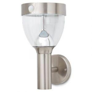 Applique extérieure à détection solaire LED Blooma Penticton chrome IP44