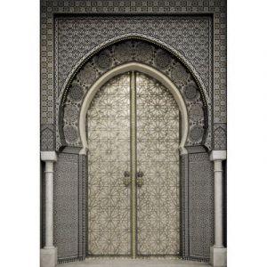 Toile sur châssis porte orientale strass 65 x 92,5 cm