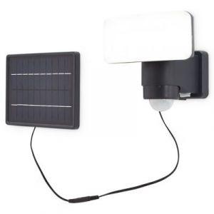 Projecteur solaire LED Blooma Kenora noir 10 W IP44