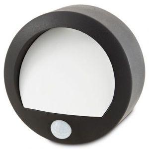 Applique extérieure à détection LED Blooma Melville noir IP44