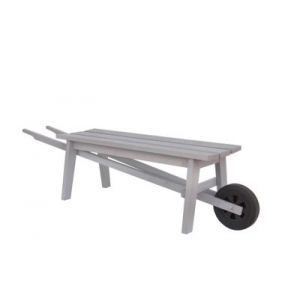 Banc brouette pin Blooma Rural gris