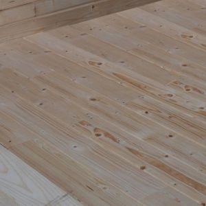 Plancher pour abris bois Skara 10 65 m² et Skara + pergola ép.28 mm