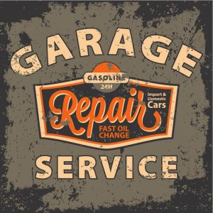 Tableau Vintage Garage Repair Service 80X80