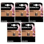 Duracell Lot de 5 Piles alcalines LR 11, MN11, 6 V Duracell 1 (Vitamed, neuf)
