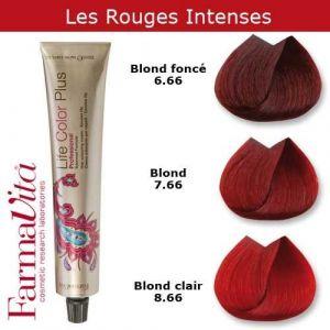 Coloration cheveux FarmaVita - Tons Rouges Intenses Blond foncé rouge intense 6.66 (Cosmetics United Boutique, neuf)