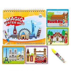 Sipobuy Livre de Dessin de l'eau Magique Coloriage de Livre d'eau à griffonner avec Un Stylo Magique Conseil de Peinture pour Les Enfants Éducation Dessin Jouet (dans Le Monde Entier) (OK Gift, neuf)