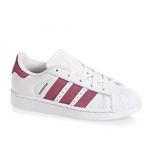 adidas Superstar C, Basket Mode Fille-Blanc (Ftwbla/Ftwbla/Negbás 000)-31.5 EU (Dock Des Marques, neuf)