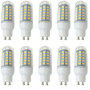 Aoxdi 10X LED Lumière de Maïs LED GU10 7W Lampe, Blanc Chaud, 48 SMD 5730 LED Spot Mais Éclairage Intérieur Spot de Haute Luminosité Basse Consommation, AC220-240V (Aoxdi, neuf)
