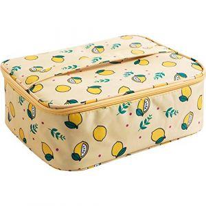 Exepests Sac de rangement portable pliant for femmes Sac de rangement étanche for sac de toilette de salle de bains Toilette (Color : Yellow, Taille : 20cm) (Little dolphin Trade, neuf)