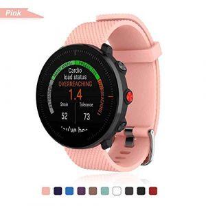 Bemodst Bracelet pour Polar Vantage M Smartwatch, Bande de Remplacement en Silicone Poignet Sangle de Sports Watch Accessoires pour Polar Vantage M Montre Intelligente (Rose) (LiQian Tech, neuf)