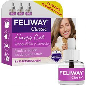 Feliway Classic Avantage Pack 3x 30Jours Flacon de Recharge (Tierglück24, neuf)