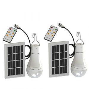 Xindaxin® LED Lampe solaire, énergie solaire 9W ampoules Super lumineuses avec télécommande control-solar Camping/lumière d'urgence pour camping randonnée,2 pièces (xindaxin, neuf)