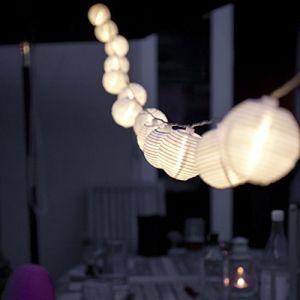 Ibello Guirlande Lumineuses Boule Guirlande Lanterne Guinguette Papier Lampion LED Pile Décoraion Chambre 20LEDs 3,2M Intérieur Extérieur pour Jardin Noël Mariage Anniversaire (XiheRicco, neuf)