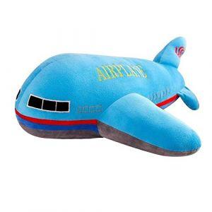 Peluche jouet avion oreiller poupée décoration de la maison enfants garçon cadeau d'anniversaire-Avion bleu_40 cm (lizhaowei531045832, neuf)