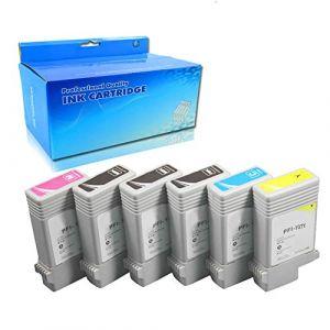 Ouguan® 6X (2noir Mat, 1photo Noir, 1cyan, 1magenta, 1jaune) PFI-107 130ML Cartouches d'encre Compatible avec Canon IPF-670 IPF-680 IPF-685 IPF-770 IPF-780 Imprimant (Zhuhai ouguan Electronic Technology Co., Ltd, neuf)