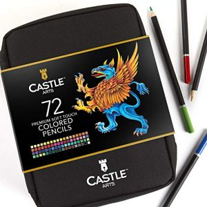 Castle Art Supplies Coffret 72 Crayons de Couleur Fermeture Éclair Facile à Ranger et Protéger vos Crayons de Coloriage (Castle Art Supplies (UK), neuf)