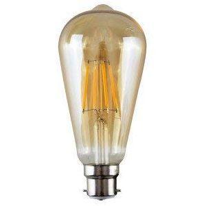 Ampoule à filament B22 à baïonnette 40 W E27 vintage antique rétro ambre, ST64 B22 40W (dcVoltage, neuf)