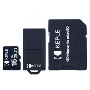 Carte Micro SD 16Go 16GB MicroSD Classe 10 Compatible avec Tomtom (Tom Tom) GO 6200, 6100, 6000, 5200, 5100, 5000, 950, 940, 750, 740, 620, 610, 600, 550, 540, 520, 510, 500 GPS Navigation 16 Go GB G (Keple, neuf)