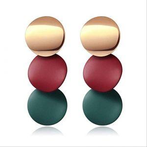 Cadeaux Boucles d'oreilles Boucles d'oreilles pour femmesBoucles d'oreilles Acrylique Géométrique Rouge Dangle Boucle d'oreille Mariage BrincoRouge 4 (Graceguoer, neuf)