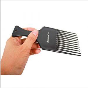 Cvthfyky Lisse Cheveux Rake Peigne pour Hairdressing fork -7inch longueur natuaral couleur noir et Chocolat (Couleur : Noir) (cvthfyk, neuf)