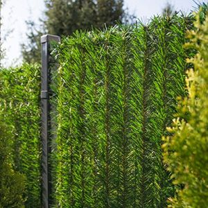 FairyTrees Revêtement de Clôture GreenFences, Couleur: Vert Clair, Revêtement de Balcon Haie Artificielle Hauteur 120cm, 15m (Jumbo-Shop, neuf)
