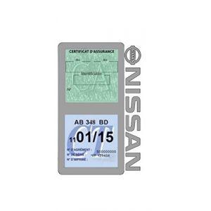 Générique Étui Double Assurance Nissan Gris Porte Vignette adhésif Voiture Stickers Auto Retro (Stickers-auto-retro, neuf)