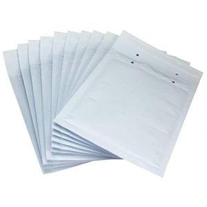 10 x Enveloppes Rembourrées par Net4Client - Bubble Bags White Mailing Postal Bags Bubble Mailers Emballage Rapide et Racile K20 size 370x480mm (Net4Client, neuf)