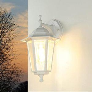 """Applique Murale Classique Lampe Extérieure""""Paris"""" / Lanterne Murale/Luminaire De Jardin/Blanc (Licht-Erlebnisse, neuf)"""