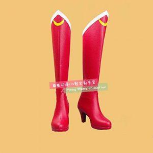 TCYLZ Japonais Anime marin lune bottes rouges Sailormoon Tsukino UsagiCosplay chaussures bande dessinée Costume bottes grande taille 44 sailor moon (zhanghongjia0715., neuf)