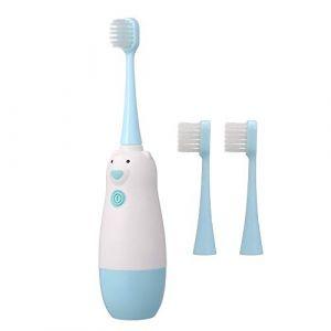 Brosse à Dents pour 3-12 ans, Anself Brosse à Dents Électrique à piles pour Enfants avec Tête de Brosse Douce Bleu (alyou, neuf)