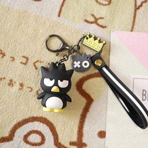 Kuromi Porte-clés Femme Porte-clés Pom Pom Purin cinnamoroll Bad Badtz Maru Mignon Dessin animé nouveauté PVC Pendentif Bijoux, 02 (wufan store, neuf)