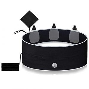 FitFeelsFun Ceinture hydratation Jogging avec Gourde - Sac Banane - Porte-Accessoires - Sacoche hydratation Ceinture pour Sports randonnée Fitness Marathon (Lamoku GmbH, neuf)