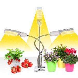 Niello Lampe pour Plante, Lampes de Croissance minuterie Marche/ARRÊT Auto - on/Off 3/6/12H, 156 LEDs Lampe de Culture à Spectre Complet Semblable au Soleil, Lampe pour Planter Plantes d'intérieur (5stargrow, neuf)
