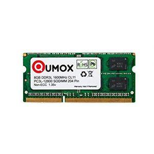 QUMOX 8 Go 204 pin DDR3L-1600 So-DIMM Mémoire (1600Mhz, PC3L-12800S, CL11, 1.35V, Basse Tension) (Ecom National Limited, neuf)