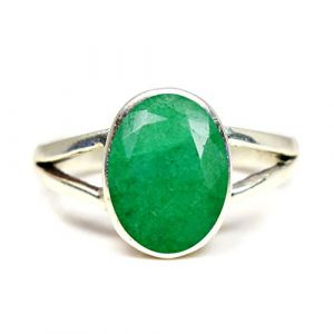 Jewelryonclick Mixte Homme Femme Argent Sterling-925 Ovale Vert Émeraude Naturelle (jewelryonclick(uk), neuf)