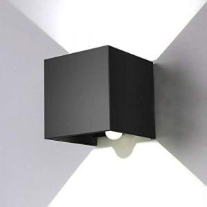 ENCOFT 12W Luminaire Mural avec Détecteur de Mouvement pour Extérieur Intérieur, Applique Murale LED Angle Réglable, Lampe Murale IP67 Etanche 6000K Blanc Froid, pour Couloir Jardin Chambre Noir (Topmail, neuf)