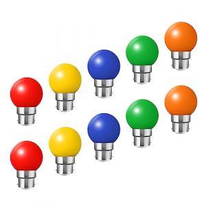 Huamu Ampoules baïonnette B22 - Paquet de 10 ampoule LED Feston 2 W (équivalent 20W), ampoule écoénergétique écoénergétique colorée Couleur, petites ampoules de Noël BC Cap (HUAMu, neuf)