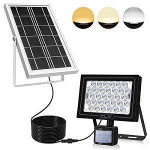 Projecteur LED Solaire Avec Détecteur, CLY 60 LED Lampe Solaire Extérieur Avec Détecteur de Mouvement, Spot Solaire Exterieur Détecteur, Lumière Solaire Extérieur, IP66 Pour Patio, Jardin, Entrepôt (CLY- tools EU, neuf)