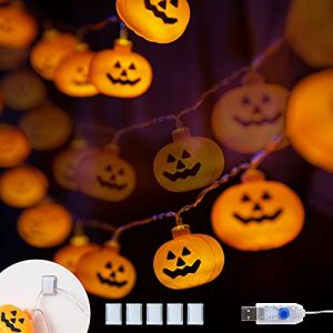 Halloween Decoration Guirlande Lumineuse Citrouille avec 40 LED 5,4M Fonctionné par USB (KPCB, neuf)