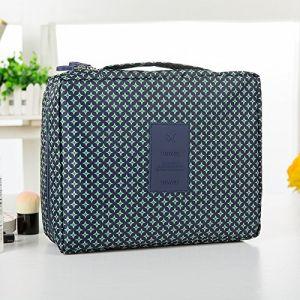 MZP Corée sac de lavage Kit de Voyage portable dame Voyage poche imperméable Voyage d'affaires Produits cosmétiques , deep blue stars (ZhongPing Miao, neuf)
