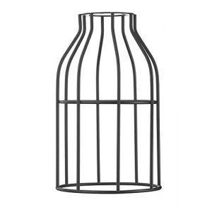 Hoopzi • Cage • Abat Jour en Acier Laqué • 8 Coloris • Pour Suspension Luminaire ou Lampe Créative • Compatible Douille E27 • Noir (Hoopzi, neuf)