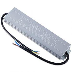 YAYZA! 1-Paquet Adaptateur ultra-mince compact pour pilote LED basse tension Étanche IP67 12V 12.5A 150W universel pour alimentation intérieur/extérieur à découpage CA/CC (ClickBuy Group, neuf)