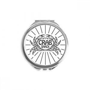 DIYthinker crabe sketch marine organism radial miroir rond maquillage de poche à la main portable 2,6 pouces x 2,4 pouces x 0,3 pouce Multicolore (bestchong, neuf)