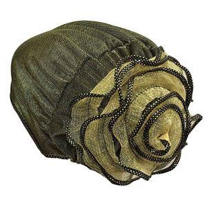 Chapeau musulman Hijab Foulard Foulard fleur musulman pour Chemo [Or] (24station EURO, neuf)