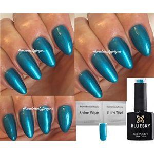 Blue Sky 80600Labyrinthe Bleu sarcelle Garden Muse Vernis à ongles gel UV LED Soak Off 10ml Plus 2LuvliNail Shine Wipes (Home Beauty For You, neuf)