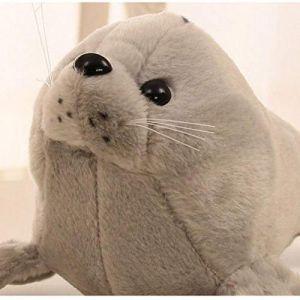 Peluche jouet animal en peluche marin monde sous-marin joint lion de mer oreiller poupée enfants cadeau d'anniversaire-gris_35 cm (lizhaowei531045832, neuf)
