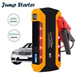 600A 20000mAh Booster Batterie, Portable Jump Starter, Démarrage de Voiture (Jusqu'à 6.0L Essence 4.0L Gazole), Alimentation Eléctrique d'Urgence pour Voiture Moto Automobile avec Port de charge USB (ZRY store, neuf)