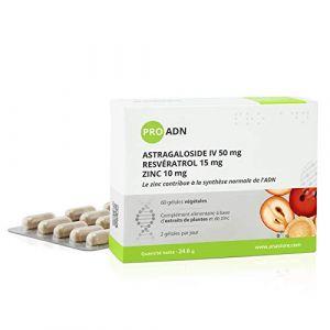 PRO ADN * Astragale, Graines de Raisin, Zinc * 335.54 mg / 60 gélules * Titré à 10% en Astragaloside IV et à 15% en Resvératrol * Antioxydants, Peau (anti-âge) (ANASTORE BIO, neuf)