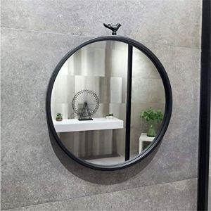 JXQ Nordique En Fer Forgé Miroir Rond De Salle De Bains Miroir De Salle De Bains Miroir De Salle De Bains Toilette Miroir Tenture Miroir Décoratif En Verre Miroir, 4 Tailles & Noir (Dream Fly EU, neuf)